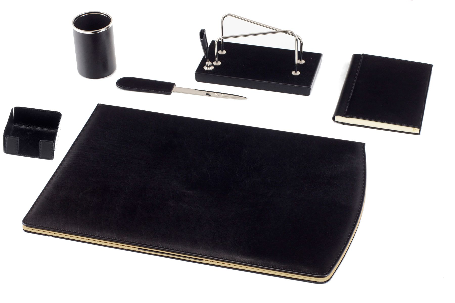 Black Desk Set