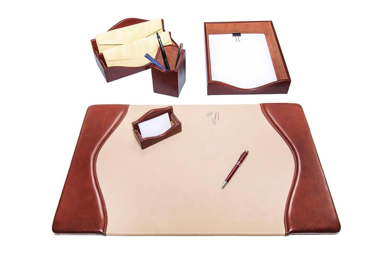 Luxury Leather Desk Set